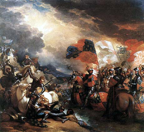 The Battle of Crecy by Benjamin West - headstuff.org