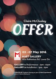 Claire McCluskey Offer, MART Gallery headstuff.org