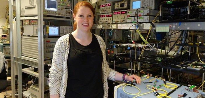 Niamh Kavanagh Photonics laboratory