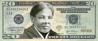 Harriet Tubman on a $20 bill - headstuff.org