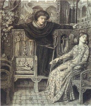 Hamlet and Ophelia, by Dante Gabriel Rosetti - headstuff.org