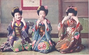 Picture of three geisha - headstuff.org