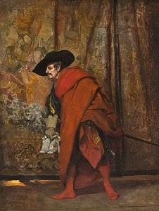 Polonius Behind The Curtain by Jehan-Georges Vibert - headstuff.org