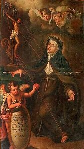 A painting of Saint Veronica Giuliani receiving the stigmata in 1697 - headstuff.org