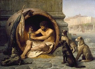 Diogenes by Jean-Leon Gerome - headstuff.org