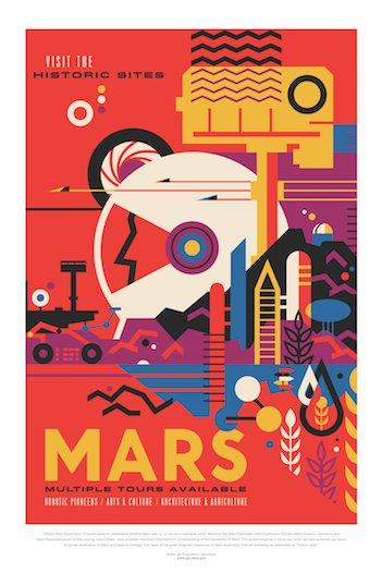 NASA JPL Mars poster