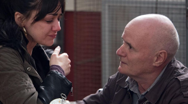 Hayley Squires and Dave Johns in I, Daniel Blake. - HeadStuff.org
