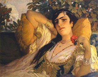 """An Oriental Beauty"" by Frederick Arthur Bridgman - headstuff.org"
