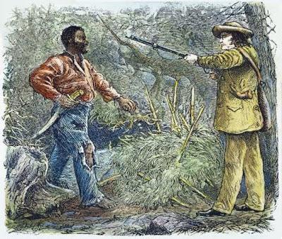 Nat Turner being captured - headstuff.org