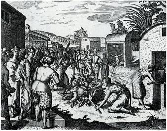 King Joao of Kongo destroying idols - headstuff.org