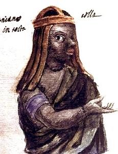 An early drawing of Kimpa Vita - headstuff.org
