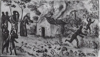 Destruction of a Kimpasi lodge by a Capuchin priest - headstuff.org