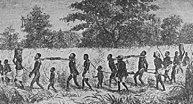Slaves being transported - headstuff.org