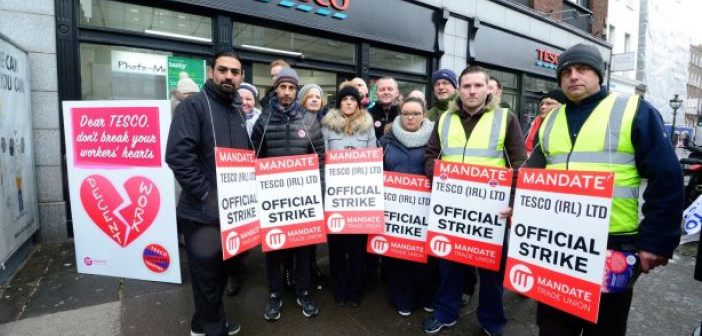 Tesco strike - HeadStuff.org