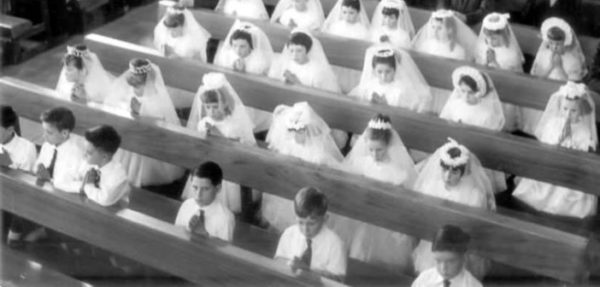 catholic church's corruption First communion - HeadStuff.org