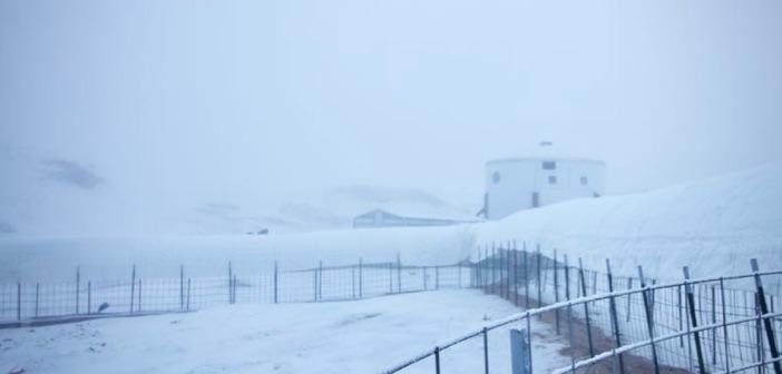snow Mars Desert Research Station