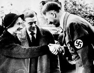Edward Windsor and Wallis Simpson meeting AdolfHitler - headstuff.org