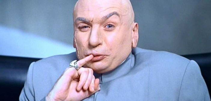 Mike Myers as Dr. Evil in 1997's Austin Powers - HeadStuff.org