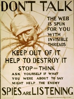 American propaganda during World War I warning of German spies - headstuff.org
