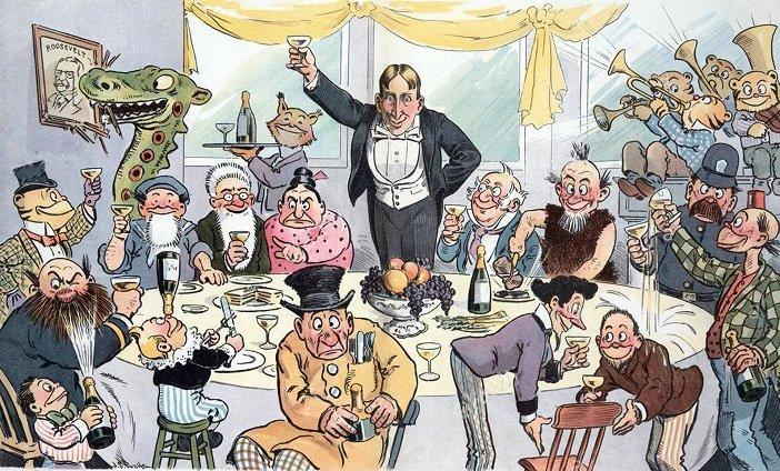 Caricature of William Randolph Hearst - headstuff.org