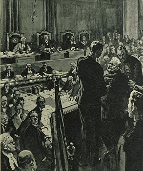 Horatio Bottomley in court - headstuff.org