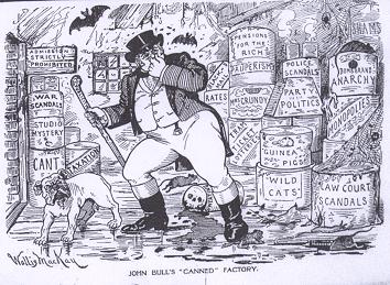 Cartoon mocking John Bull - headstuff.org