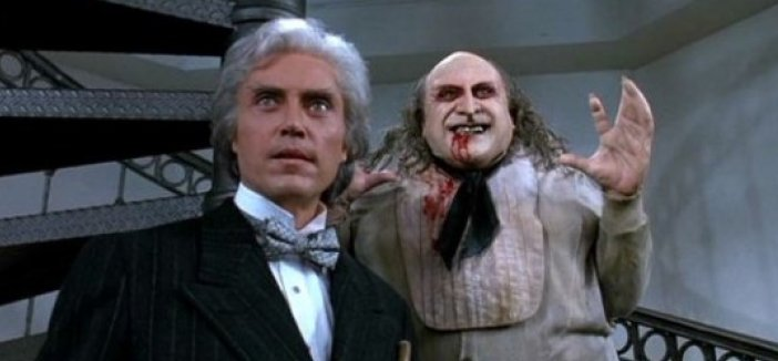 Christopher Walken and Danny De Vito in Batman Returns.