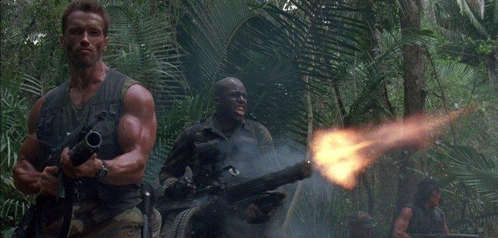 Arnold Schwarzenegger and Bill Duke in Predator. - HeadStuff.org