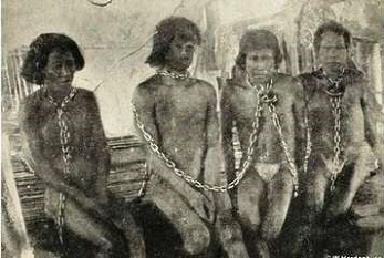 South American natives in chains - headstuff.org