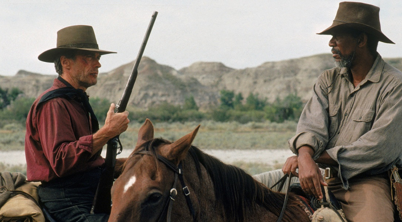 Clint Eastwood and Morgen Freeman in Unforgiven. - HeadStuff.org