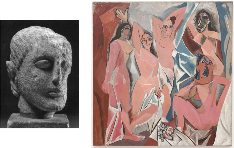 """One of the Spanish statues Picasso stole, and """"Les Demoiselles D'Avignon"""" - headstuff.org"""