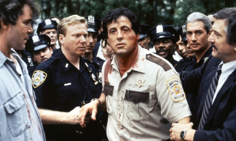 Stallone post-shootout in Cop Land. - HeadStuff.org