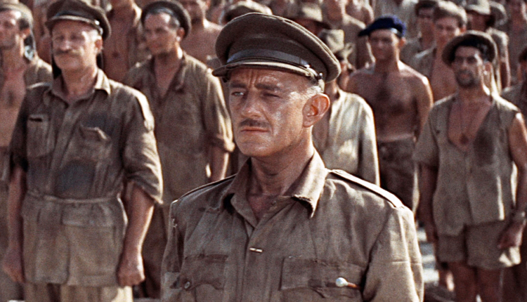 Alec Guinness as Col. Nicholson in The Bridge on the River Kwai, released 60 years ago today. - HeadStuff.org