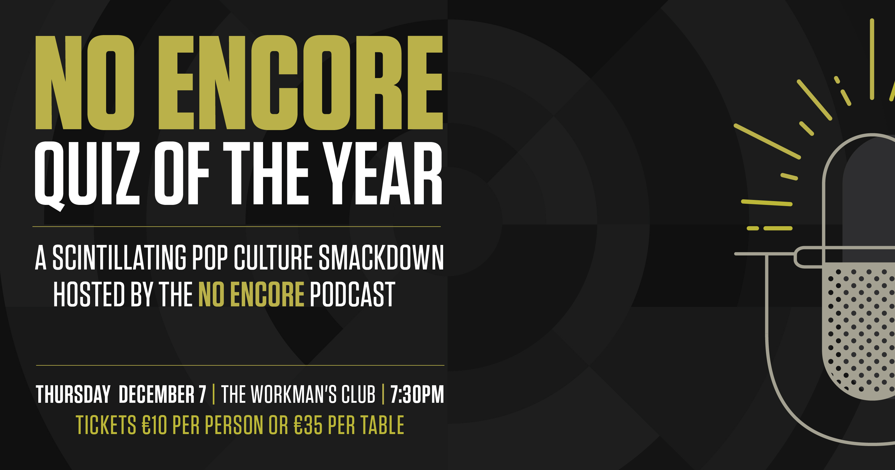 NO ENCORE QUIZ OF THE YEAR. MUSIC PODCAST TABLE QUIZ - HEADSTUFF.ORG