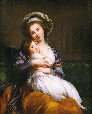 Elisabeth Vigee Le Brun and her daughter Julie - headstuff.org