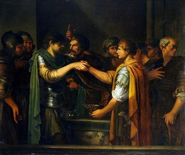 The Oath of Catiline, by Joseph-Marie Vien - headstuff.org
