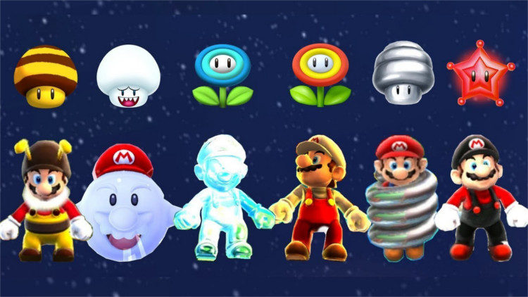 Super Mario Galaxy Power-ups