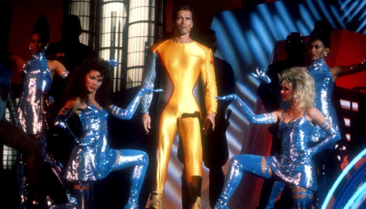 Arnie as Ben Richards in The Running Man. - HeadStuff.org