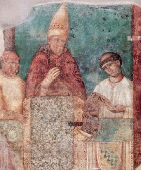 A fresco of Boniface as pope - headstuff.org