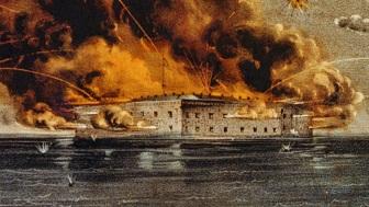 Fort Sumter Ablaze - headstuff.org