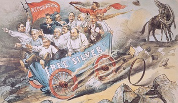 Cartoon about the Sherman Silver Act - headstuff.org
