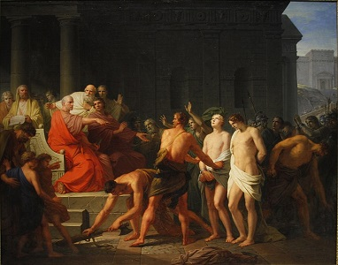 Brutus sentencing his sons, by Heinrich Friedrich Fuger - headstuff.org