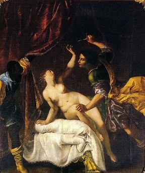 The Rape of Lucretia, by Artemisia Gentileschi - headstuff.org