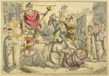 Tarquin becoming king - headstuff.org