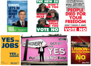 nice treaty ireland yes and no posters - HeadStuff.org