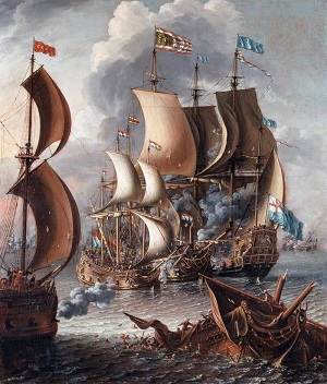 """A Sea Fight with Barbary Corsairs"" by Laureys a Castro - headstuff.org"