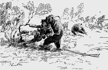 Hugh Glass attacked by a bear - headstuff.org