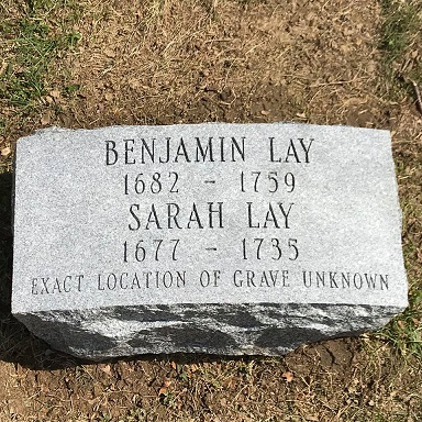 Sarah and Benjamin Lay's grave marker - headstuff.org