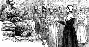 Mary Fisher preaching to Sultan Mehmed IV - headstuff.org