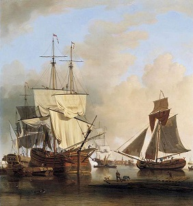 18th century merchant ships on the Thames - headstuff.org